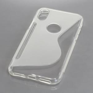 Silikon Case Schutzhülle für Apple iPhone X S-Curve transparent