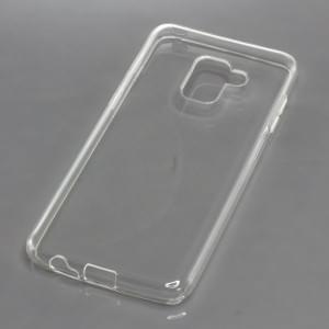 TPU Silikon Case / Schutzhülle für Samsung Galaxy A8 (2018) SM-A530FZ voll transparent