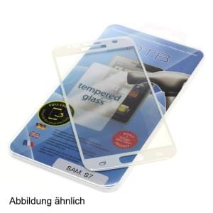 Panzerglas / Tempered Glass Full Cover 3D für Apple iPhone 8 Plus weiß
