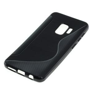 TPU Silikon Case / Schutzhülle für Samsung Galaxy S9 S-Curve schwarz