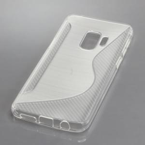 TPU Silikon Case / Schutzhülle für Samsung Galaxy S9 S-Curve transparent