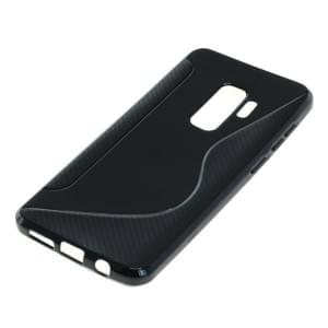 TPU Silikon Case / Schutzhülle für Samsung Galaxy S9 Plus S-Curve schwarz