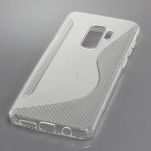 TPU Silikon Case / Schutzhülle für Samsung Galaxy S9 Plus S-Curve transparent