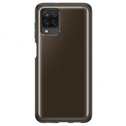 Original Samsung EF-QA125TBEGEU A12 Soft Clear Cover schwarz
