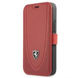 Ferrari iPhone 12 mini Ledertasche Perforated Rot FEOGOFLBKP12SRE