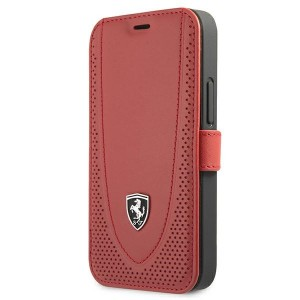 Ferrari iPhone 12 mini Ledertasche Perforated Rot FEOGOFLBKP12SRE