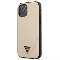 GUESS iPhone 12 Pro Max 6,7 Cover / Case / Hülle Saffiano Gold
