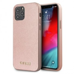 GUESS iPhone 12 / 12 Pro Hülle Case Cover Iridescent rose gold GUHCP12MIGLRG