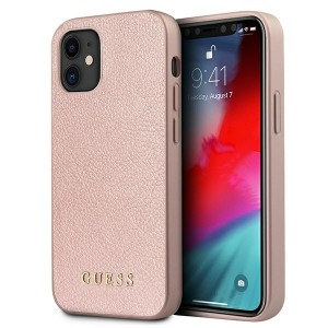 GUESS iPhone 12 mini Hülle Case Cover Iridescent rose gold GUHCP12SIGLRG