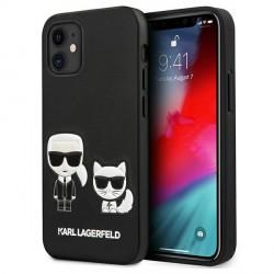 Karl Lagerfeld iPhone 12 mini 5,4 Hülle Ikonik / Choupette KLHCP12SPCUSKCBK