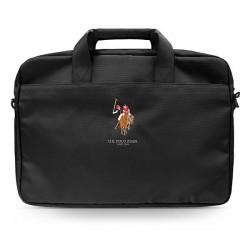 "US Polo Notebook / Laptop Tasche 15"" Schwarz USCB15PUGFLBK"