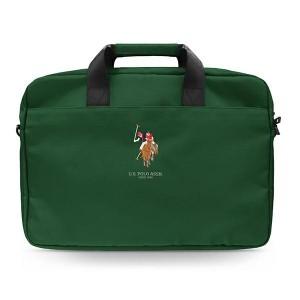 "US Polo Notebook / Laptop Tasche 15"" Grün USCB15PUGFLGN"