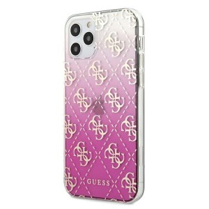 Guess iPhone 12 Pro Max Gradient Cover / Case / Hülle Pink GUHCP12LPCU4GGPI