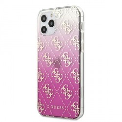 Guess iPhone 12 / 12 Pro Gradient Cover / Case / Hülle Pink GUHCP12MPCU4GGPI
