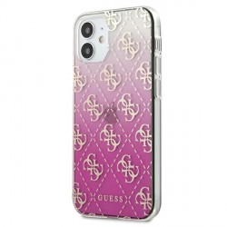 Guess iPhone 12 mini 5,4 Gradient Cover / Case / Hülle Pink GUHCP12SPCU4GGPI