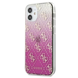 Guess iPhone 12 mini 5,4 Gradient Cover / Case / Hülle Pink GUHCP12SPCU4GGPI
