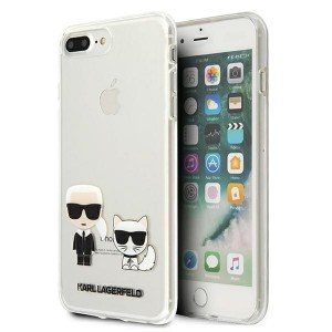 Karl Lagerfeld iPhone 8 Plus / 7 Plus Hülle / Cover / Case Karl & Choupette Transparent KLHCI8LCKTR