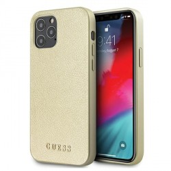 GUESS iPhone 12 / 12 Pro 6,1 Hülle Iridescent gold GUHCP12MIGLGO