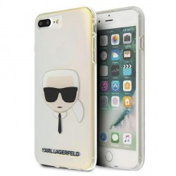 Karl Lagerfeld iPhone 8 Plus / 7 Plus Hülle / Cover / Case Multicolor Iridescent Karl`s Head KLHCI8LPCKHML