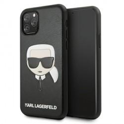 Karl Lagerfeld iPhone 11 Pro Hülle / Case / Cover Ikonik Karl`s Head schwarz KLHCN58KHBK