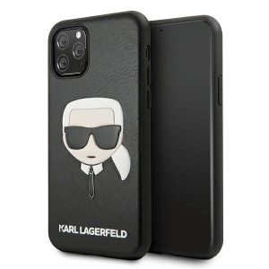 Karl Lagerfeld iPhone 11 Pro Max Hülle / Case / Cover Ikonik Karl`s Head schwarz KLHCN65KHBK
