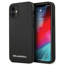 Karl Lagerfeld iPhone 12 mini Hülle / Case / Cover schwarz KAMEO KLHCP12SPUKBK