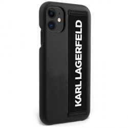 Karl Lagerfeld iPhone 12 mini STRAP Case / Hülle / Cover KLHCP12SSTKLBK