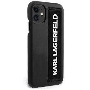 Karl Lagerfeld iPhone 12 mini STRAP Case / Hülle / Cover KLHCP12SSTKLBK
