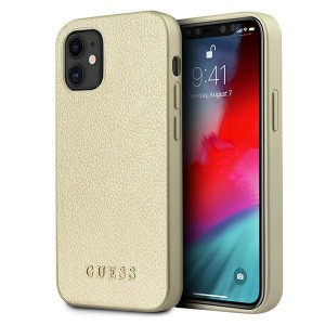 GUESS iPhone 12 mini 5,4 Hülle Iridescent gold GUHCP12SIGLGO