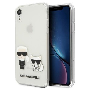 Karl Lagerfeld iPhone XR Hülle / Cover / Case Karl & Choupette Transparent KLHCI61CKTR