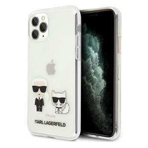 Karl Lagerfeld iPhone 11 Pro Hülle / Cover / Case Karl & Choupette Transparent KLHCN58CKTR