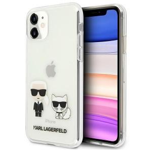Karl Lagerfeld iPhone 11 Hülle / Cover / Case Karl & Choupette Transparent KLHCN61CKTR
