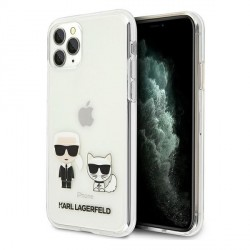 Karl Lagerfeld iPhone 11 Pro Max Hülle / Cover / Case Karl & Choupette Transparent KLHCN65CKTR