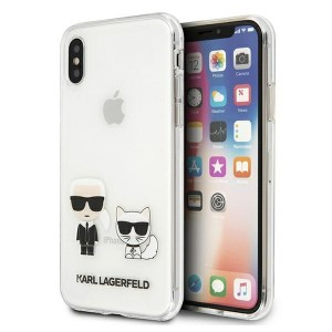 Karl Lagerfeld iPhone X / Xs Hülle / Cover / Case Karl & Choupette Transparent KLHCPXCKTR
