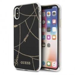 Guess iPhone XS / X Hülle Chain Gold schwarz GUHCPXPCUCHBK