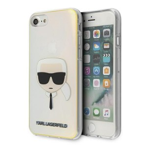 Karl Lagerfeld iPhone SE 2020 / 8 / 7 Hülle / Cover / Case Multicolor Iridescent Karl`s Head KLHCI8PCKHML