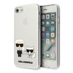 Karl Lagerfeld iPhone SE 2020 / 8 / 7 Hülle / Cover / Case Karl & Choupette Transparent KLHCI8CKTR