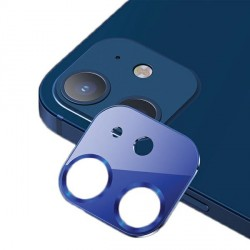 USAMS Kameraobjektiv Glas iPhone 12 mini Metall blau