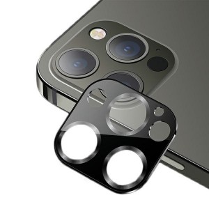 USAMS Kameraobjektiv Glas iPhone 12 Pro Max Metall schwarz