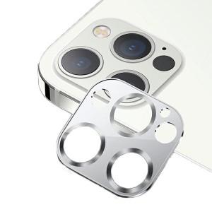 USAMS Kameraobjektiv Glas iPhone 12 Pro Max Metall silber