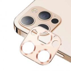 USAMS Kameraobjektiv Glas iPhone 12 Pro Max Metall gold