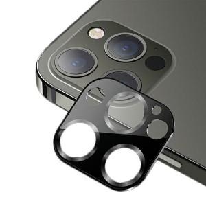 USAMS Kameraobjektiv Glas iPhone 12 Pro Metall schwarz