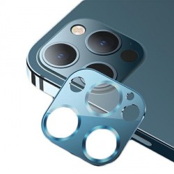 USAMS Kameraobjektiv Glas iPhone 12 Pro Metall blau