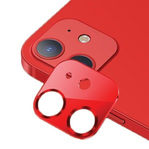 USAMS Kameraobjektiv Glas iPhone 12 Metall rot