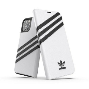 Adidas iPhone 12 / 12 Pro 6,1 OR Booklet Case PU white black