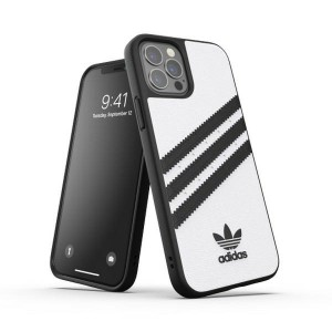 Adidas iPhone 12 / 12 Pro 6,1 OR Moulded PU case white black