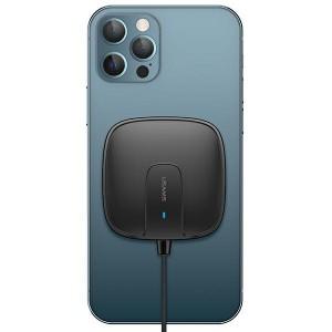 USAMS Qi Mag Safe Schnellladegerät magnetic 15W slim iPhone 12 series schwarz