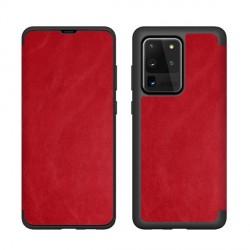 Handytasche Samsung S21 Ultra Book Case rot