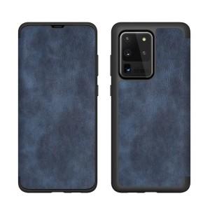 Handytasche Samsung S21 Ultra Book Case blau