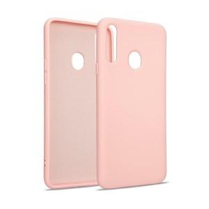 Premium Liquid Silicon Samsung A42 5G A426 Case Cover Hülle rose gold